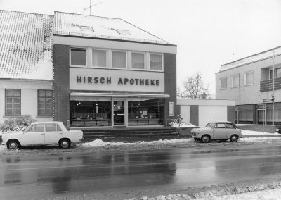 Hirsch Apotheke in Twistringen im Winter