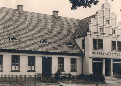 Das ursprüngliche Gebäude der Hirsch Apotheke in Twistringen